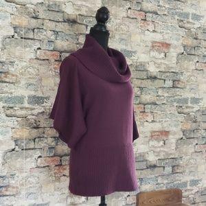 LOFT Purple Dolman Cowl Neck Sweater Size Medium
